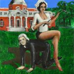 Tommy and Sally, painting by artist Johnny Dollar www.johnnydollar.biz