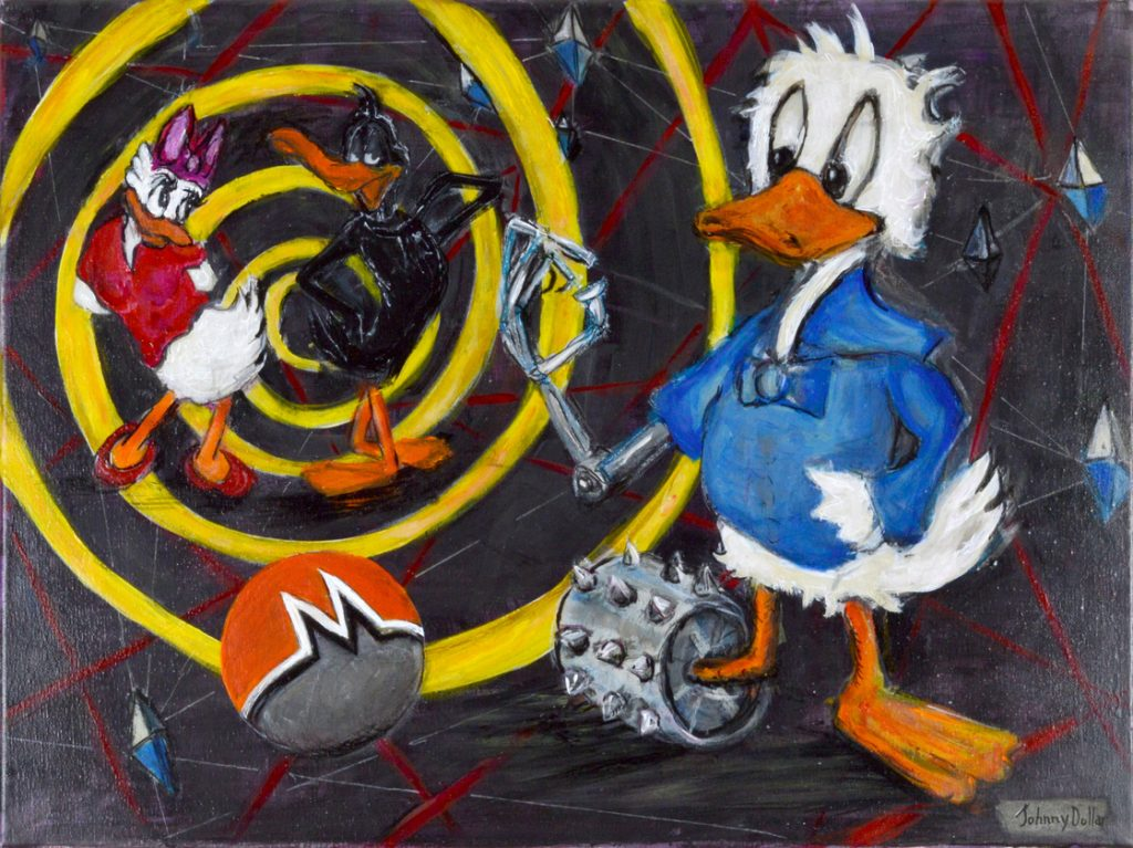 Donald goes down to the dark web> paitning By Johnny Dollar