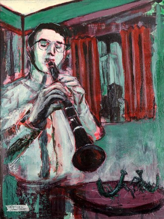 Benny Blues painting by Johnny Dollarr