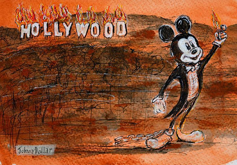 Mickey Goes To Hollywood by Johnny Dollar